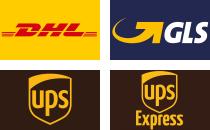 Murostar versendet mit: DHL, GLS, DPD und UPS