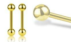 Gold Steel Barbells