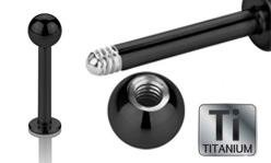 Black Titanium Labrets