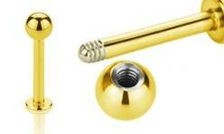 Gold Steel Labrets