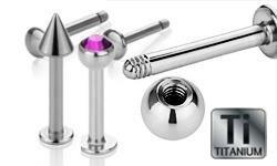 Titanium Labrets