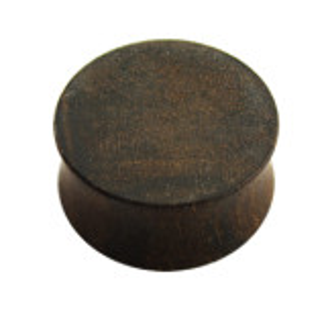 Holz - Plug - Dunkelbraun - Ziricote Wood - Edelholz - 10 mm