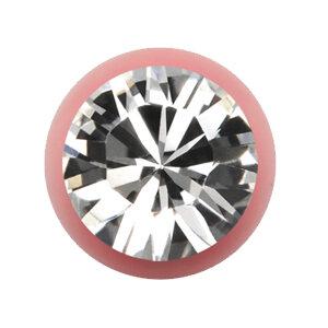 Stahl - Schraubkugel - pink - Kristall - SWAROVSKI - Supernova Concept - 3 mm