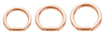 Rosegold Steel - Bar Closure Ring