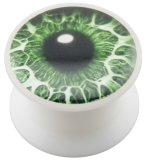 Acrylic - Design Plug - White - Eye