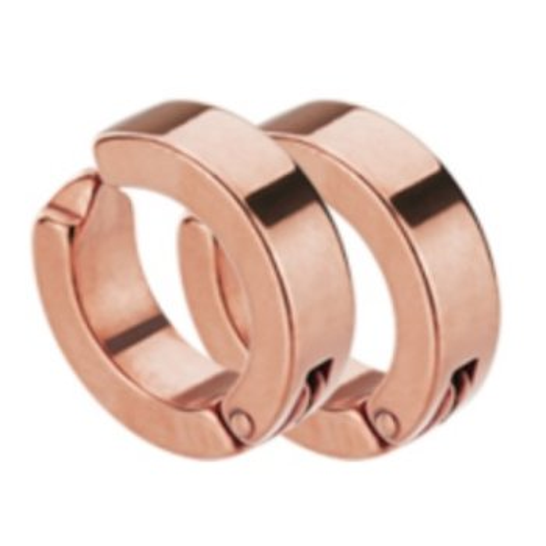 Rosegold Steel - Creolen - Clipverschluss