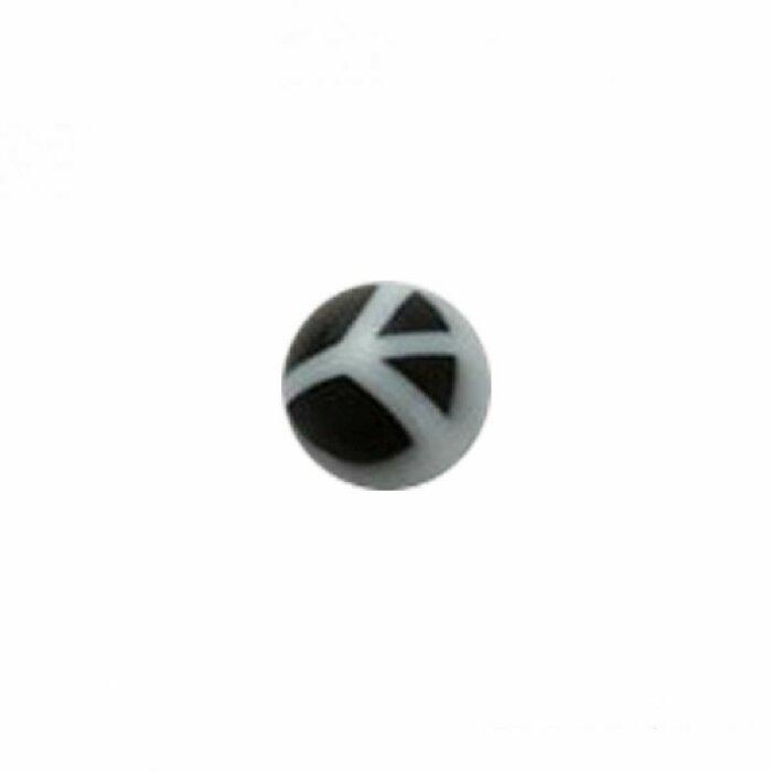Acryl - Schraubkugel - Peace Symbol - 10er Pack