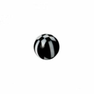 Acryl - Schraubkugel - Schachbrett Symbol - 10er Pack