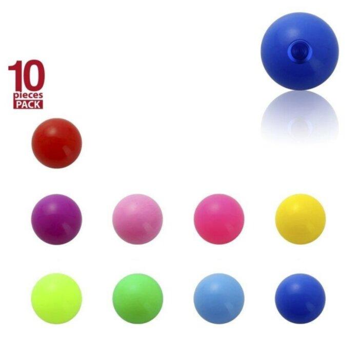 Acryl - Schraubkugel - einfarbig - 10er Pack