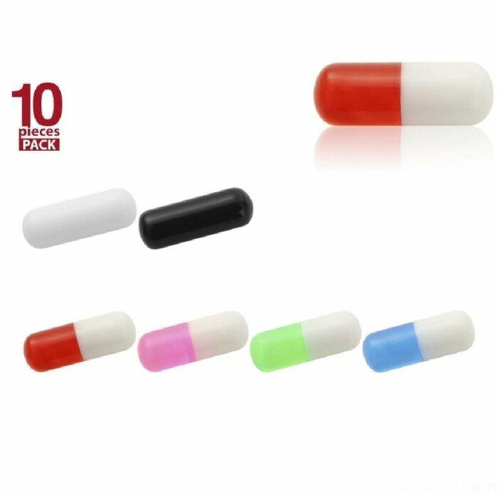 Acryl - Schraubpille mit Gewinde - 10er Pack