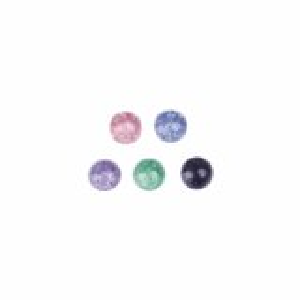 Acrylic - Screw ball - with glitter - 10pcs pack