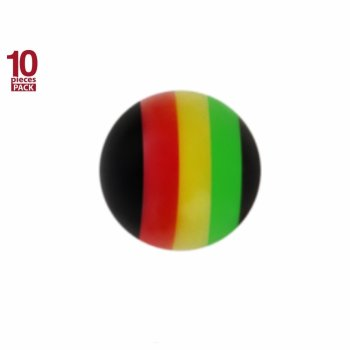 Acryl - Schraubkugel - Jamaika Design - 10er Pack