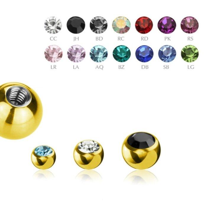 Gold Steel - Schraubkugel - Kristall