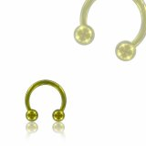 Color Titanium - CBR Circular Barbell (horseshoe) - yellow