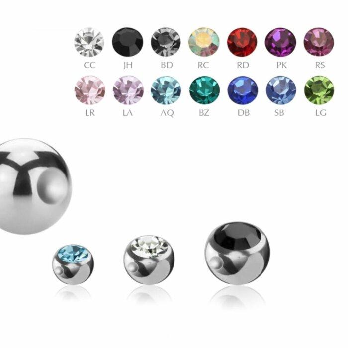 Stahl - Klemmkugel - Kristall