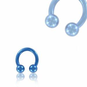 Color Titanium - CBR Circular Barbell (horseshoe) - blue