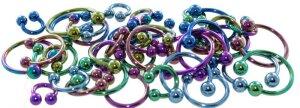 Color Titanium - CBR Circular Barbell (horseshoe) - green