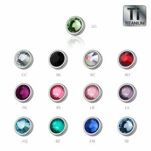 Ti Gloss Titanium - Clip-in flatball - crystal