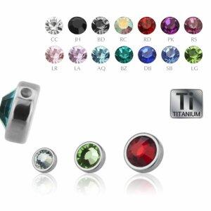 Titanium - Clip-in flatball - crystal