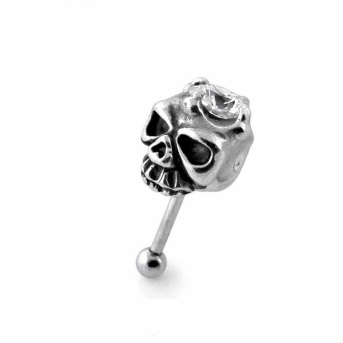 Stahl - Fake Plug - Totenkopf - Kristall
