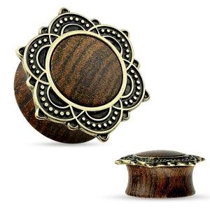 Holz - Plug - Blume - 6 mm