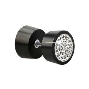 Fake Plug - Organic - Schwarz - Kristall