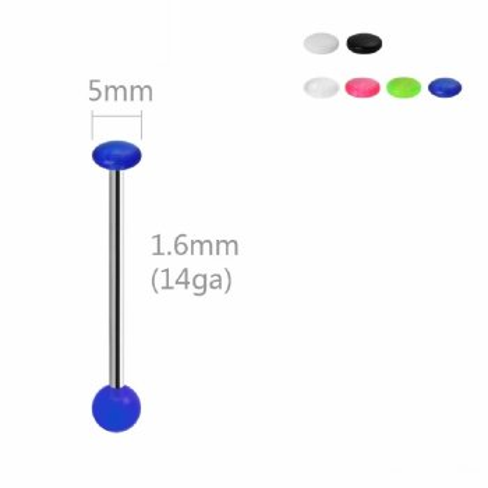 Stahl - Barbell - mit Acrylkugel und Disk