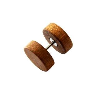 Holz - Fake Plug -  Hellbraun - Ahorn
