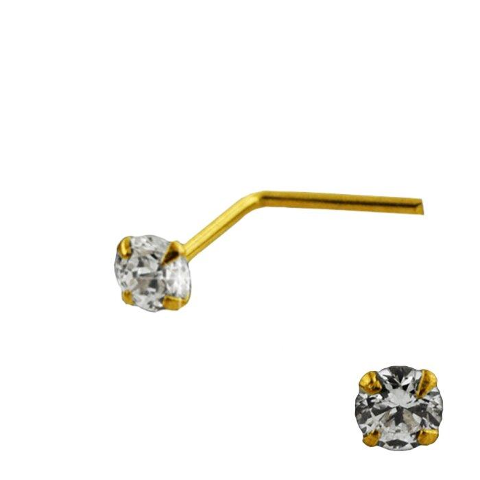 Gold - Nasenstecker - Kristall - 10 Karat