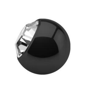 Stahl - Schraubkugel - schwarz - Epoxy - SWAROVSKI - Kristallklar (CC) - Supernova Concept
