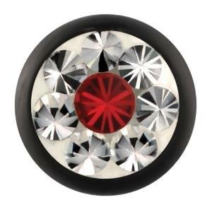 Stahl - Schraubkugel - schwarz - Epoxy - SWAROVSKI - Light Siam (LS) - Supernova Concept