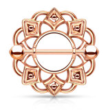 Rosegold Steel - Nipple Shield - Tribal Rosegold