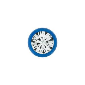 Stahl - Schraubkugel - blau - Kristall - SWAROVSKI - Supernova Concept