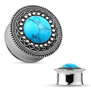 Steel - Plug - Turquoise - Decorations