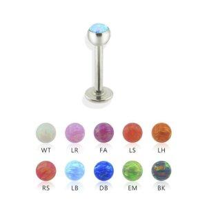 Stahl - Labret - Opal - gefasst