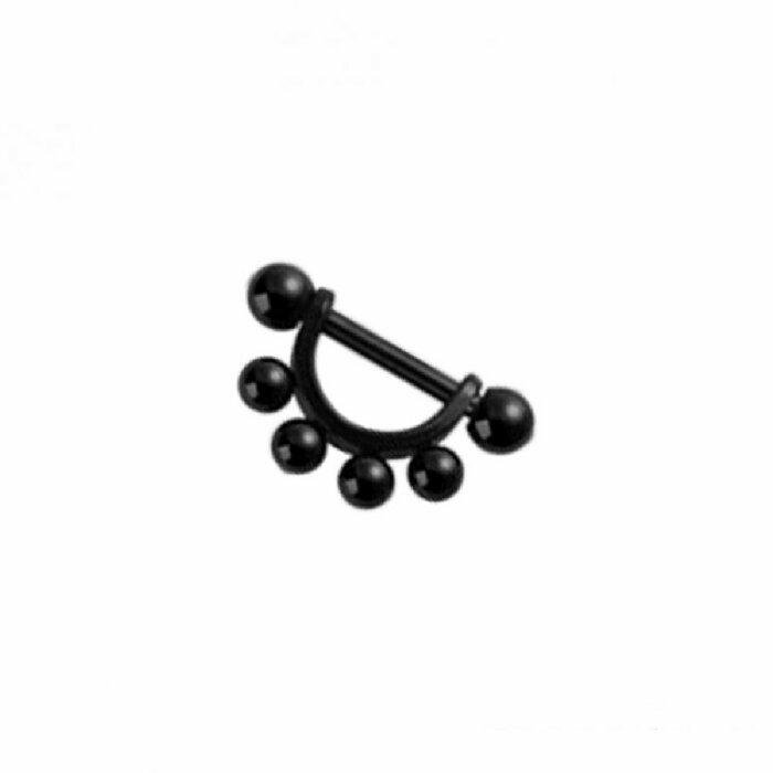 Black Steel - Ohrpiercing - Multikugel