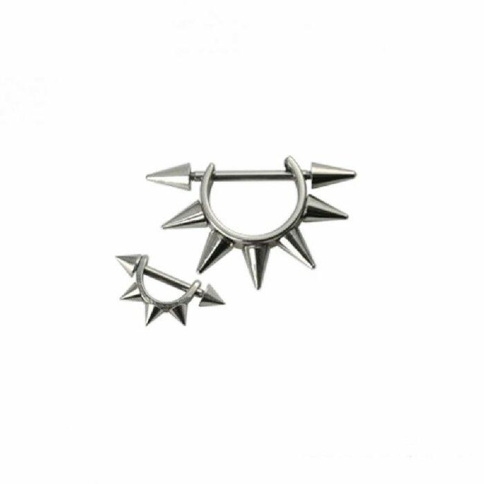 Stahl - Ohrpiercing - Multispitzen