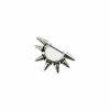 Stahl - Ohrpiercing - Multispitzen - geriffelt