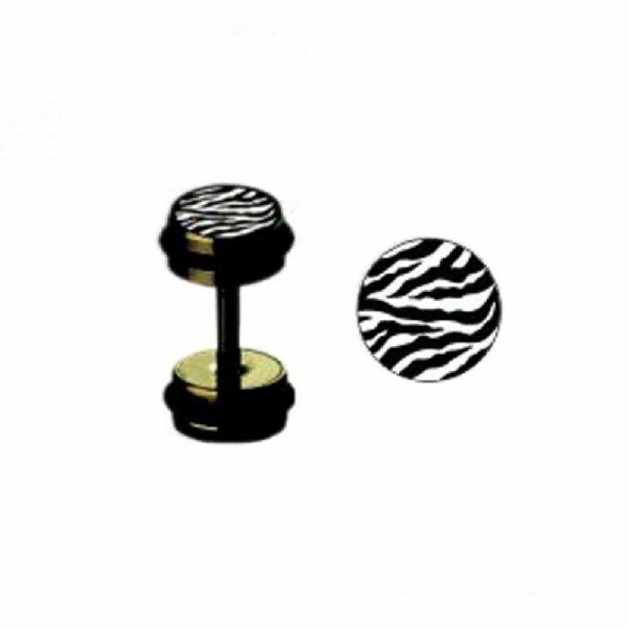 Black Steel - Fake Plug - Zebra
