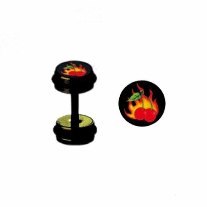 Black Steel - Fake Plug - Flammende Kirsche