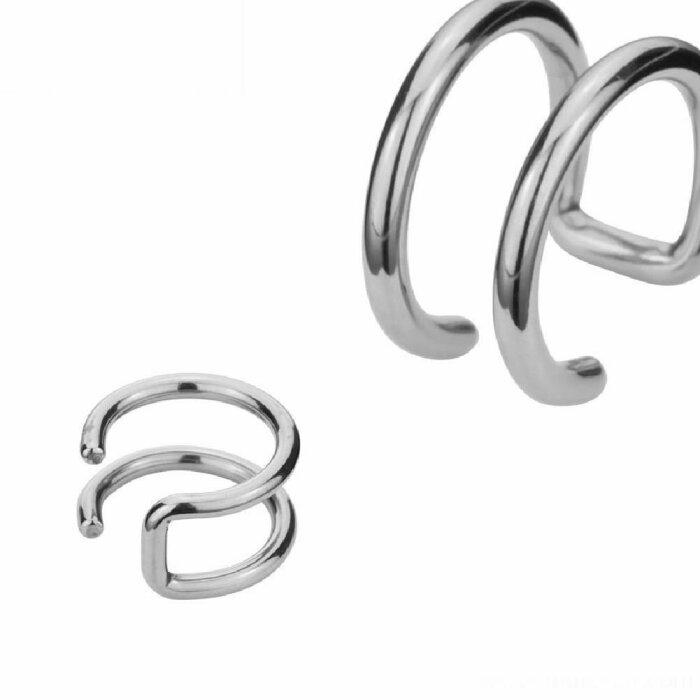 Stahl - Clip On Piercing - 2-reihig
