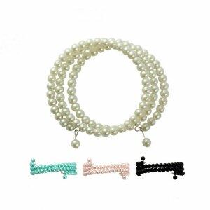 Glass Pearl Bracelet - 3-row