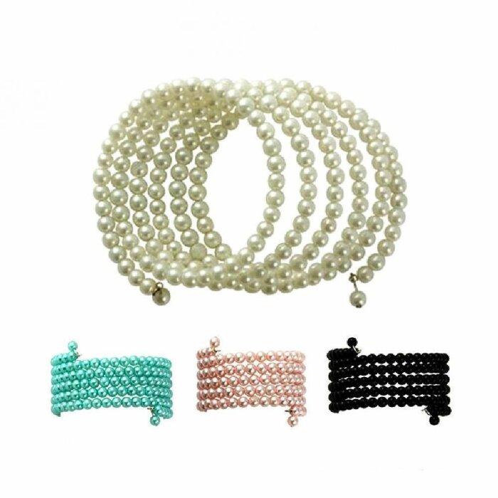 Perlenarmband - 6-reihig