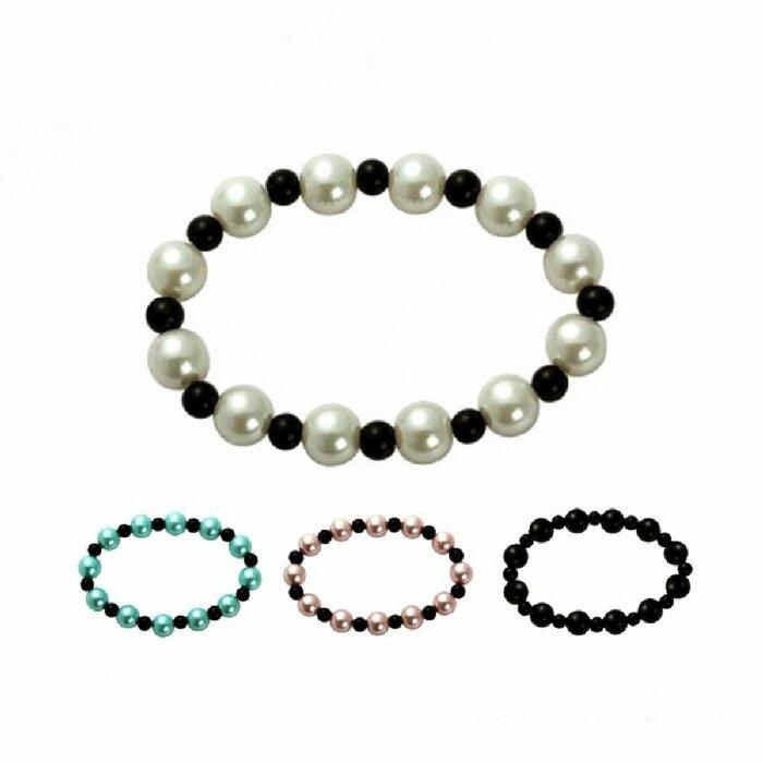 Perlenarmband - zweifarbig