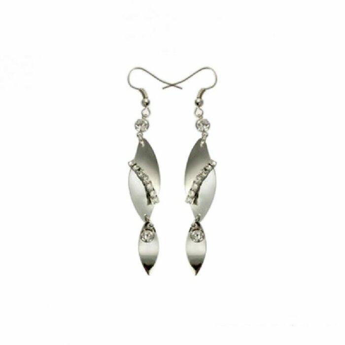 Stahl - Ohrhänger - silber