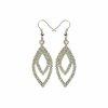 Edelstahl - Ohrring - Multikristall