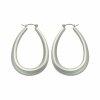 Edelstahl - Ohrring - Silber - Tropfenform