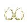 Edelstahl - Ohrring - Gold - Tropfenform