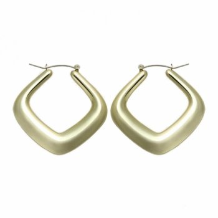 Edelstahl - Ohrring - Gold - eckig
