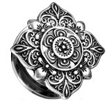 Stahl - Tunnel - Ornament Floral 8 mm
